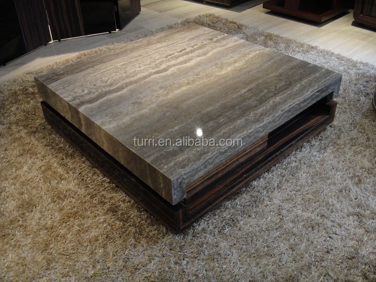 modern marble top wooden center table for living room furniture ...