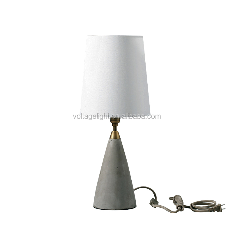 Vintage Concrete Table Lamp, Modern Hotel Shop Concrete Table Lamp
