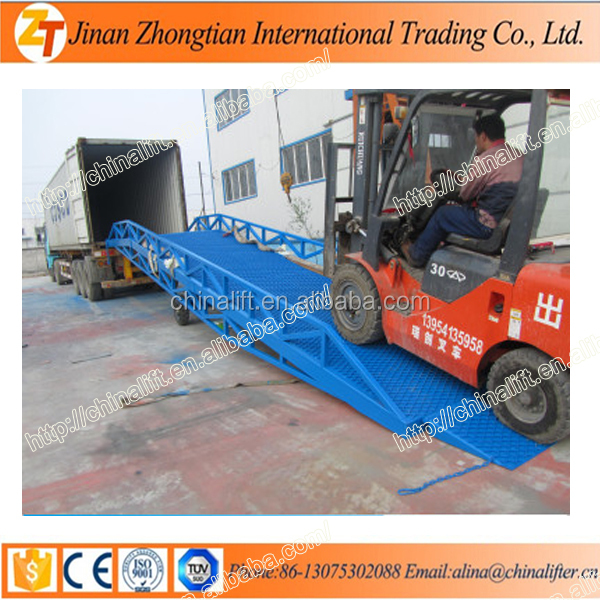 Hot sale ! DCQY10-0.9 10t Manufacturer Mechanical Mobile Steel Loading Ramp/hydraulic ramp