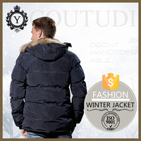 COUTUDI Portugal slim fitted leather hooded fur military fashion mens anorak jacket