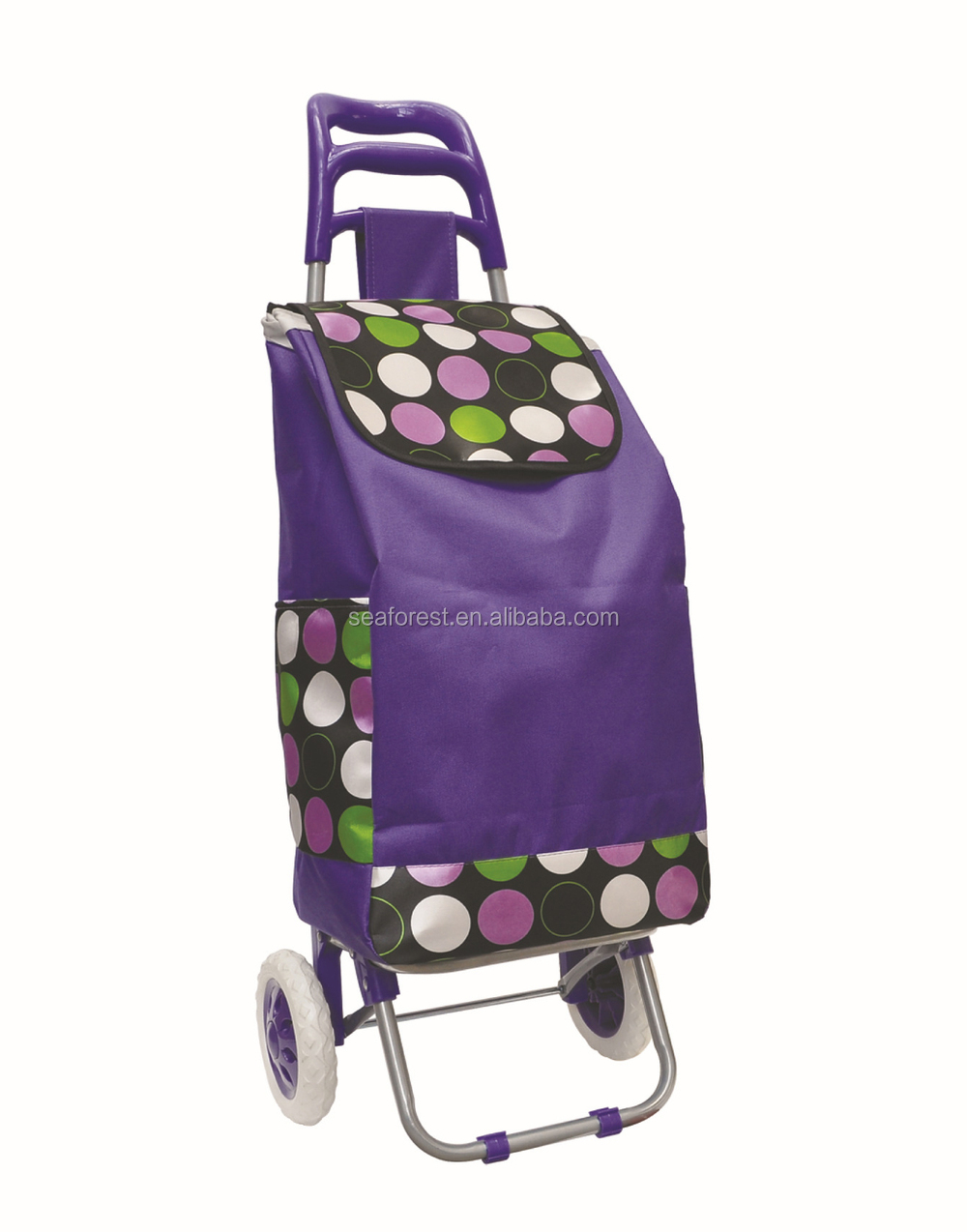Portable Folding Shopping Trolley Bag With Wheels/grocery Shopping ...