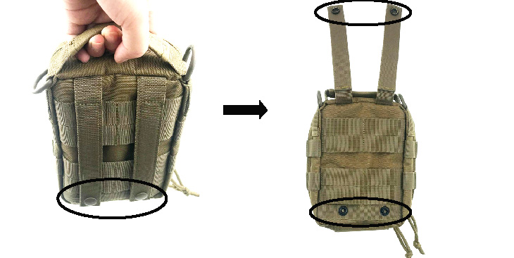Utility First Aid Bag Emergency IFAK Medical Waist Pouch Outdoor