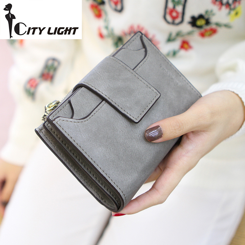9266e768c1e5 New arrival fashion women wallet ladies zipper hasp Nubuck leather  high-capacity students wallet coin purse freeshiping
