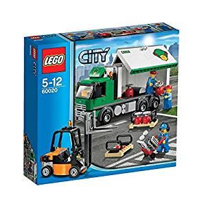 LEGO® CITY® Cargo Truck with 3 Minifigures, Forklift, & Handtruck | 60020