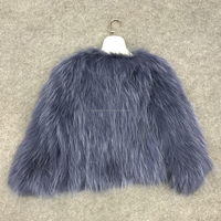 SJ047 Dark Blue Quick Shipping Wholesale Real Fur Coats