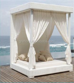 Gartenmobel Rattan Sonnendach Im Freien Buy Bali Bett Garten Gartenmobel Baldachin Bett Outdoor Product On Alibaba Com