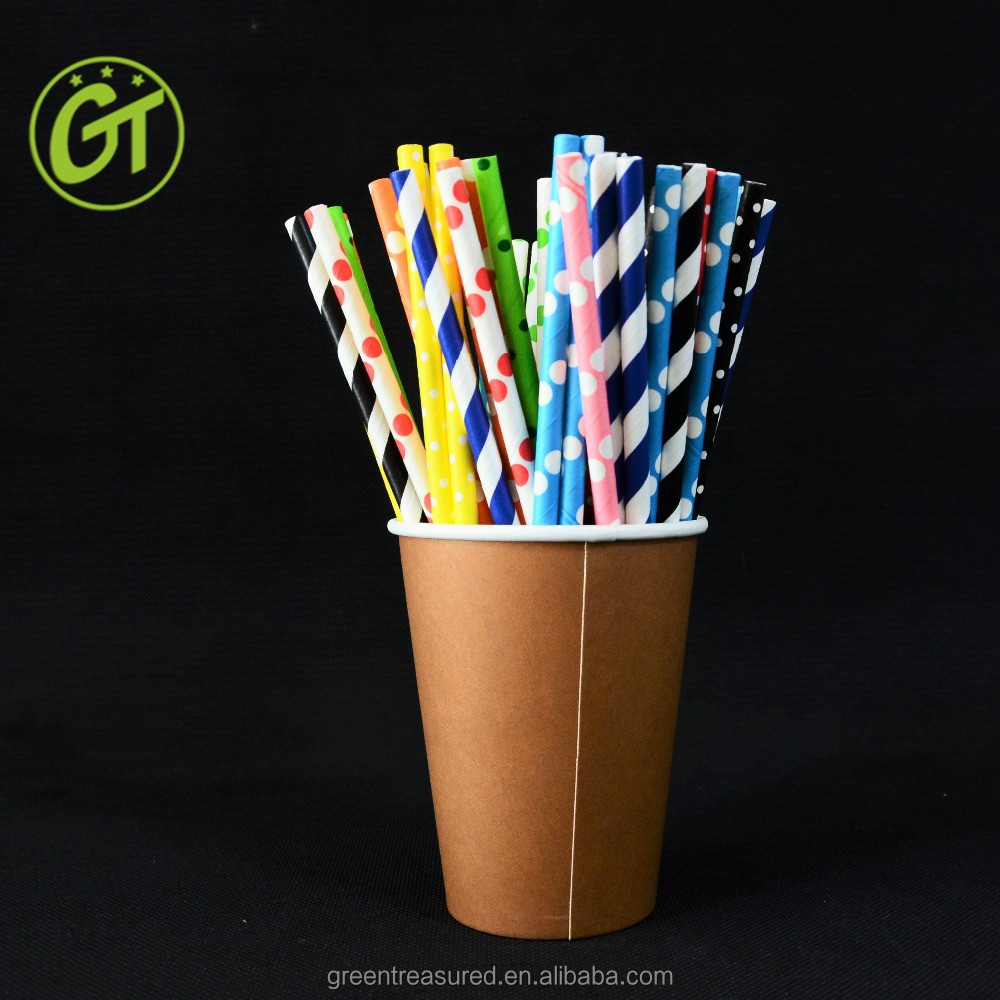 Paper Material and Drinking Straws Bar Accessories Type Beverage Drinking Straws Mix colors long drinking straight straws