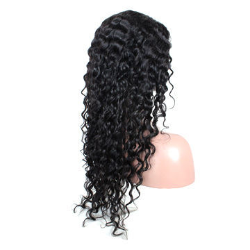 18-inch Indian Remy Hair Full Lace Wig with Silk Base Cap and 15mm Curl Texture