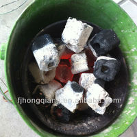 Square raw bamboo Sawdust briquette charcoal