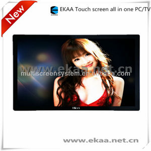 65inch LED TV FHD Top-Quality Professional manufacture touch screen pc tv all in one build in windows 8 wifi support 3d for fa