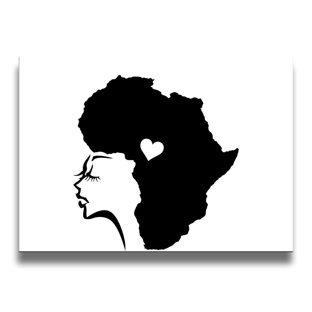 Get quotations · kamici african woman hair love frameless decorative painting home decorative