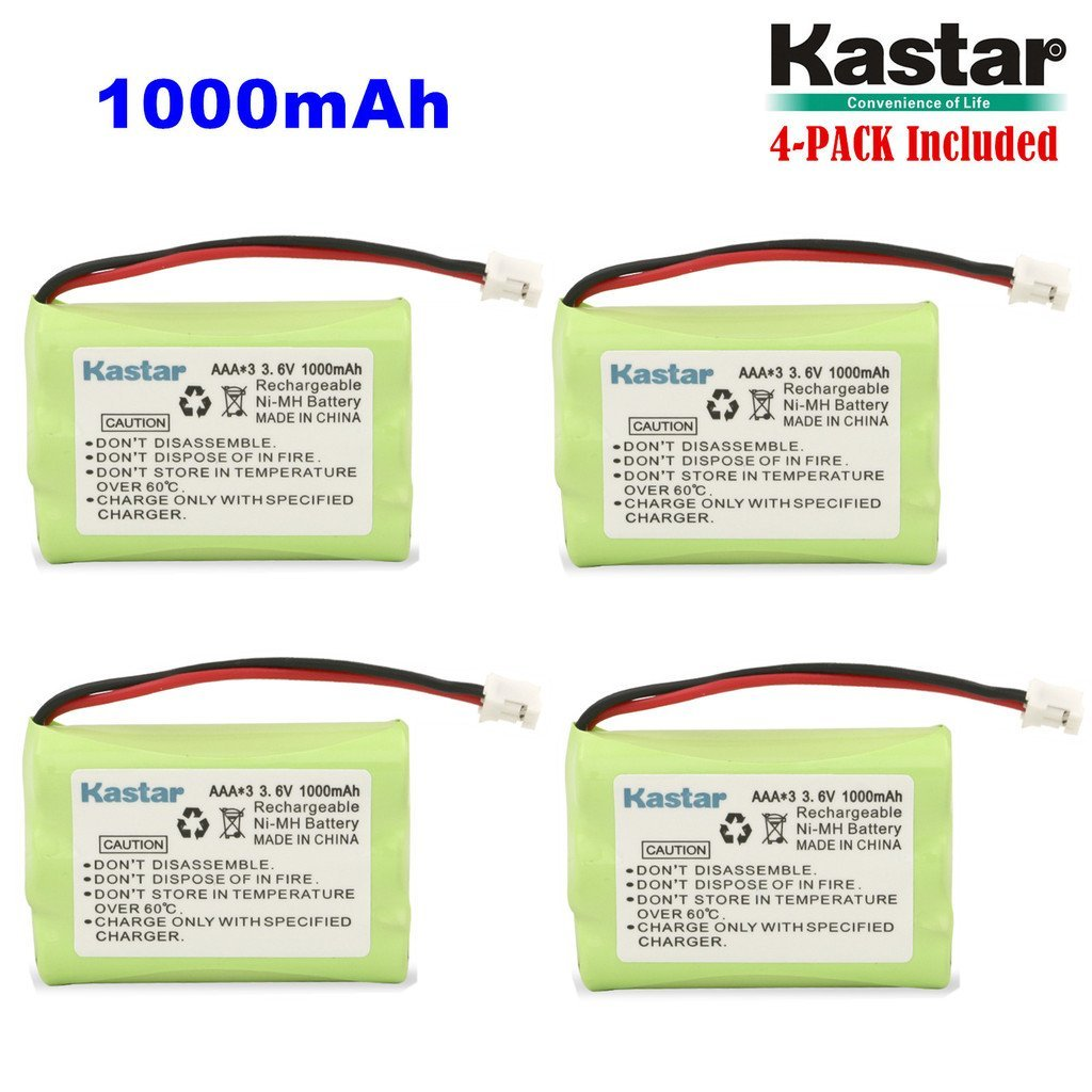 Kastar 4-PACK AAAX3 3.6V PH 1000mAh Ni-MH Battery for Motorola Series Monitor and Graco 2795DIG1, 2791, 2796VIB1, TMK NI-MH, iMonitor vibe