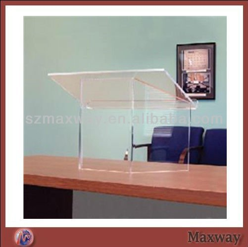 Clear Acrylic Desk Lectern