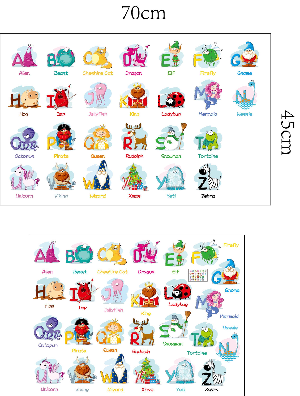 6220 Ingl S Veintis Is Alfabetos Pegatinas 26 Letras Con Animales De  -> Sala En Ingles Dibujo