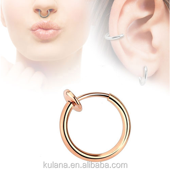 11 Mm Wide Spring Fake Septum Jewelry Indian Nose Piercing Jewelry