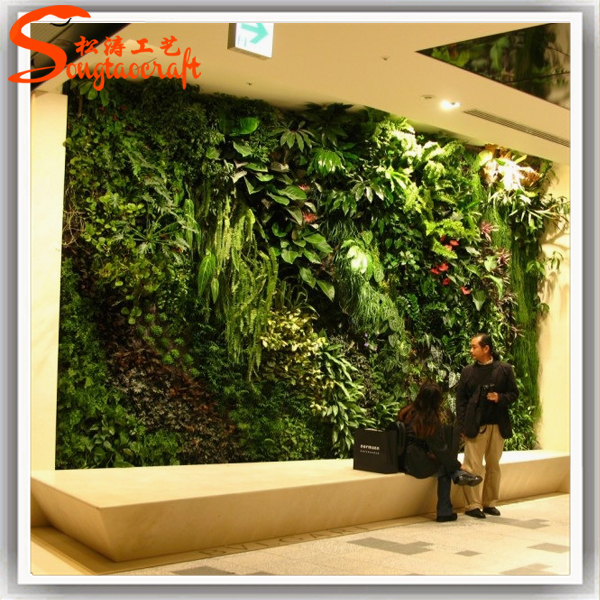 Customized indoor grass wall decor dimensional green for Artificial grass indoor decoration