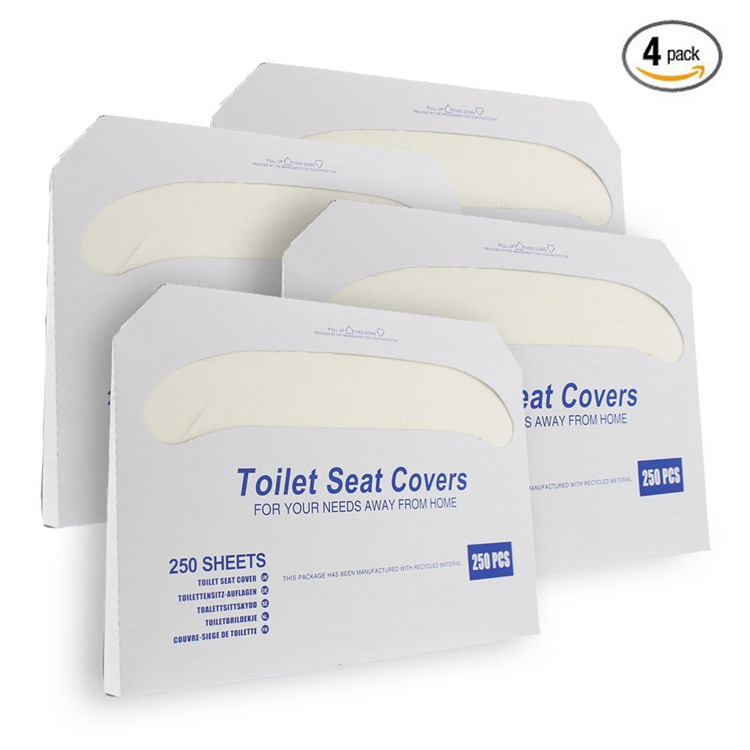 Half Fold Flushable Toilet Seat Cover Disposable Paper Toilet Seat Cover