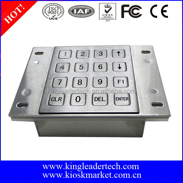 Panel mount metal usb numeric keypad