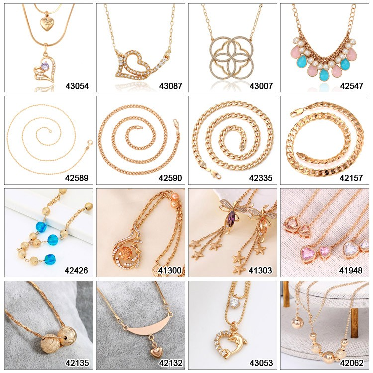 42551-xuping Pearl Necklace Designs,Women Latest Bead Necklace ...