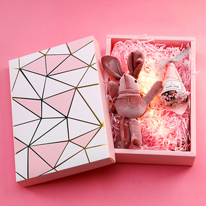 custom pink cardboard packaging present gift subscription box