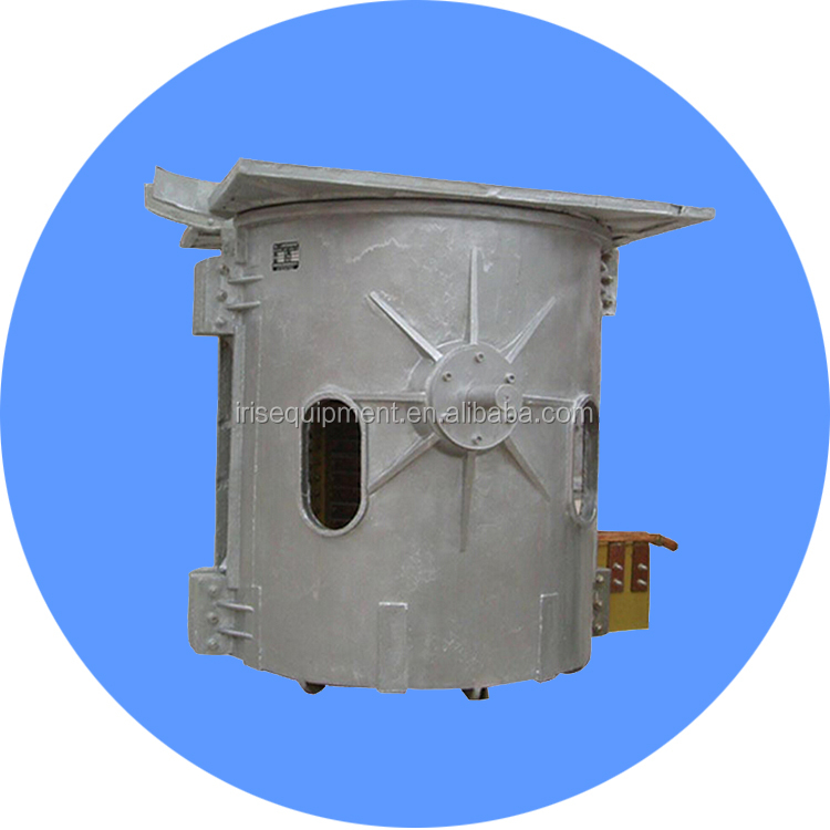 Mediam frequency crucible for melting aluminium