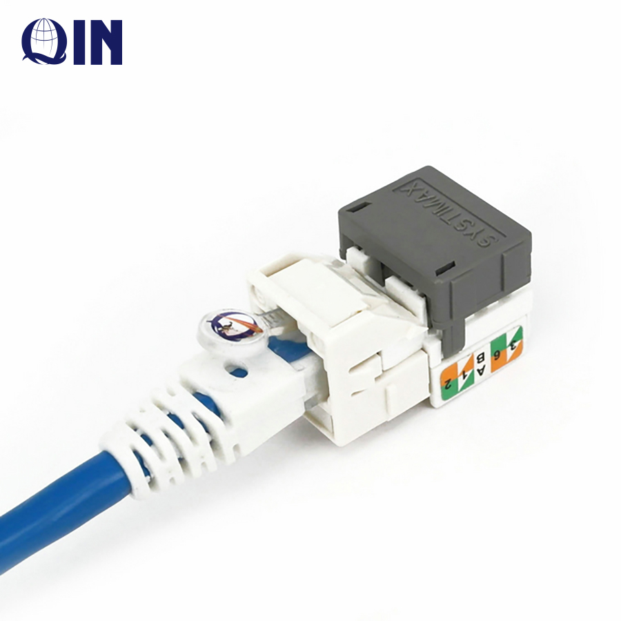 High quality free sample cat5e cat6 RJ45 8p8c utp female 90degree Tooless keystone jack