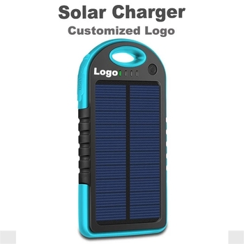 Amazon hot sale 5000mah Solar Charger Power Bank Waterproof Solar Power Bank for iPhone Xs max, Mobile Phone Charger power bank