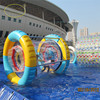 pvc small Inflatable water roller wheel roller skate pvc wheel for kids clear inflatable ball