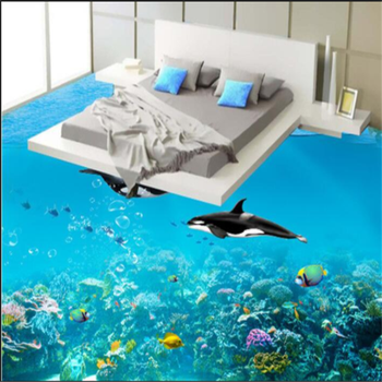Bedroom Floor Tile Dolphin Patterns Printing Ceramic Tiles