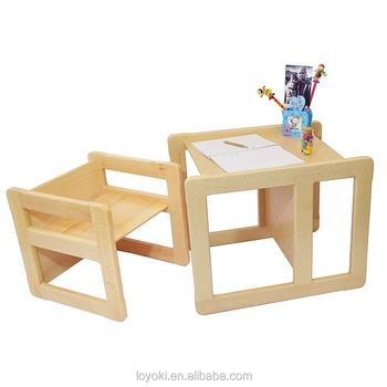 Sedie E Tavoli In Legno Per Bambini.3 In 1 Per Bambini In Legno Di Faggio Multifunzionale Per Bambini