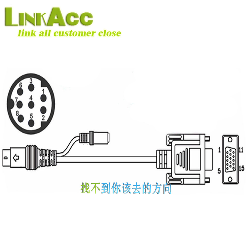 Lkcl730 Mini Din 8 Pin To D Sub 15 Vga Audio Video Adapter Wiring Diagram