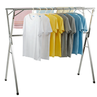 Outdoor Universal Clothes Drying Racks, Foldable Stainless Steel Cloth Dryer Rack Household Cloth Dryer