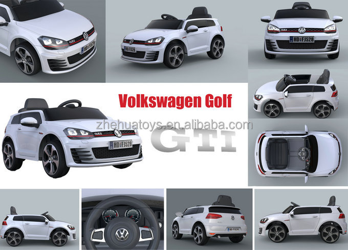 12v Licensed VW Golf GTi Ride On Car with Remote Control, Leather Seat