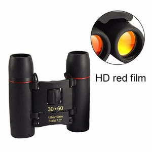30x60 Folding Binoculars Telescope with Low Light Night Vision for outdoor birding travelling sightseeing hunting