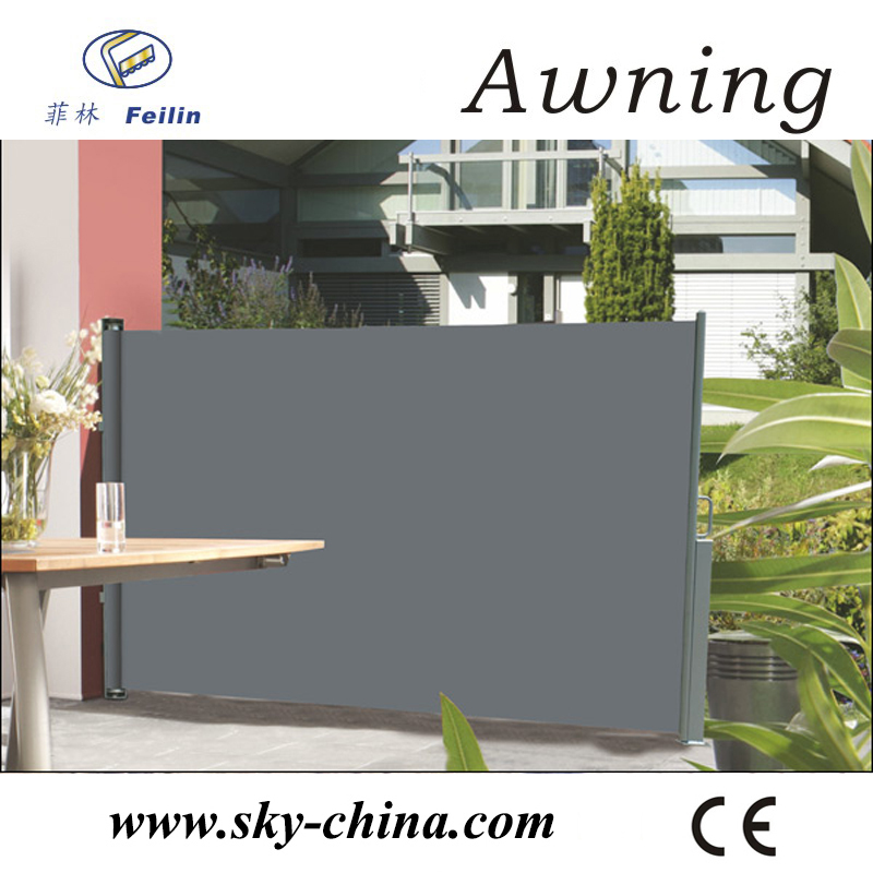 Aluminum retractable stationary awnings