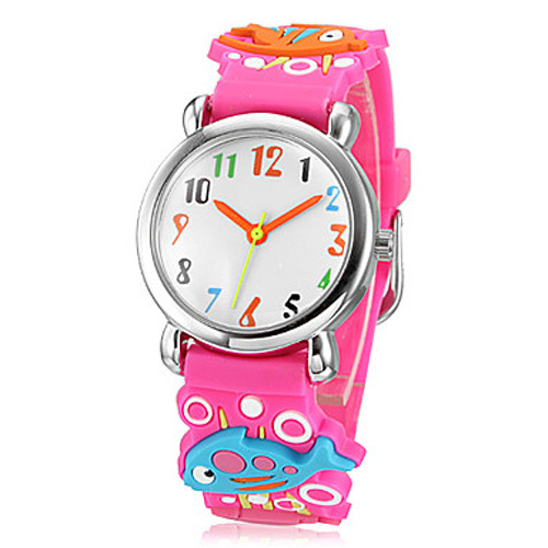 Children watch red fish Waterproof Kid Watches Brand Quartz Wrist Watch Baby For Girls Boys Fashion Casual Reloj