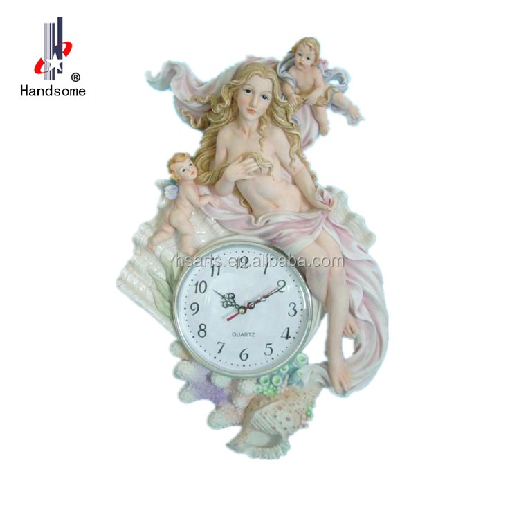 3D Modern Design Resin Sex Girl Dalta Wall Clock