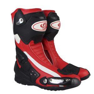High quality leather motorcycle shoes motorbike racing boots