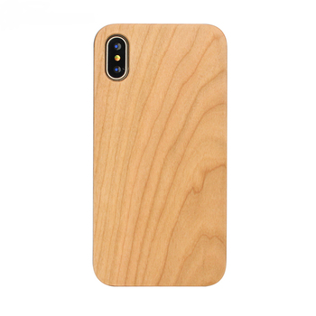2018 Custom Natural Cherry Wood Luxury Case For Iphone X 10