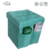 Green Color Micro Suede Chair Furniture Folding Cube Storage With Pockets