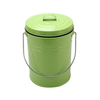 Compost pail Organic Food Waste with Charcoal Filter,Indoor Countertop Kitchen Recycling Bin