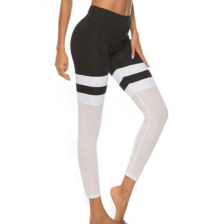 2019 Oem Kunden Nahtlose Leggings Splice Frauen 4 Way Stretch Leggings Yoga Hosen Für Verkäufe