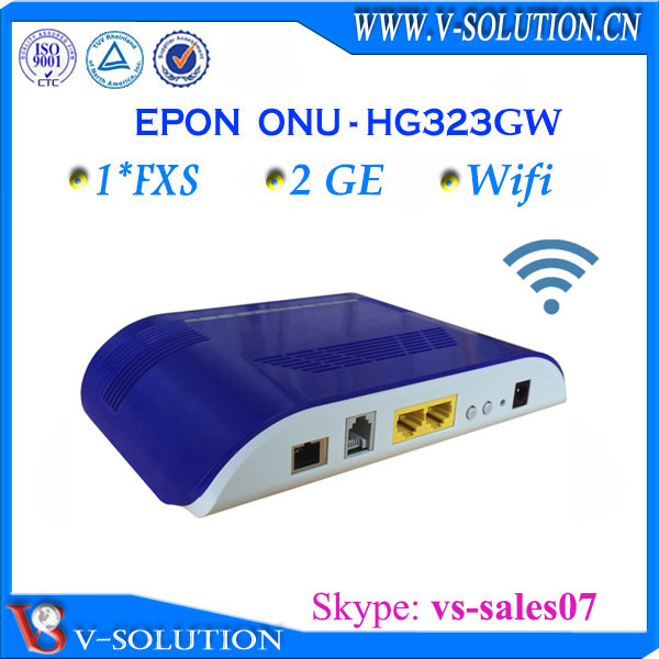 Huawei Compatible wireless Gigabit 2GE +1FXS GPON ONT, professional supplier[skype:vs-sales07]
