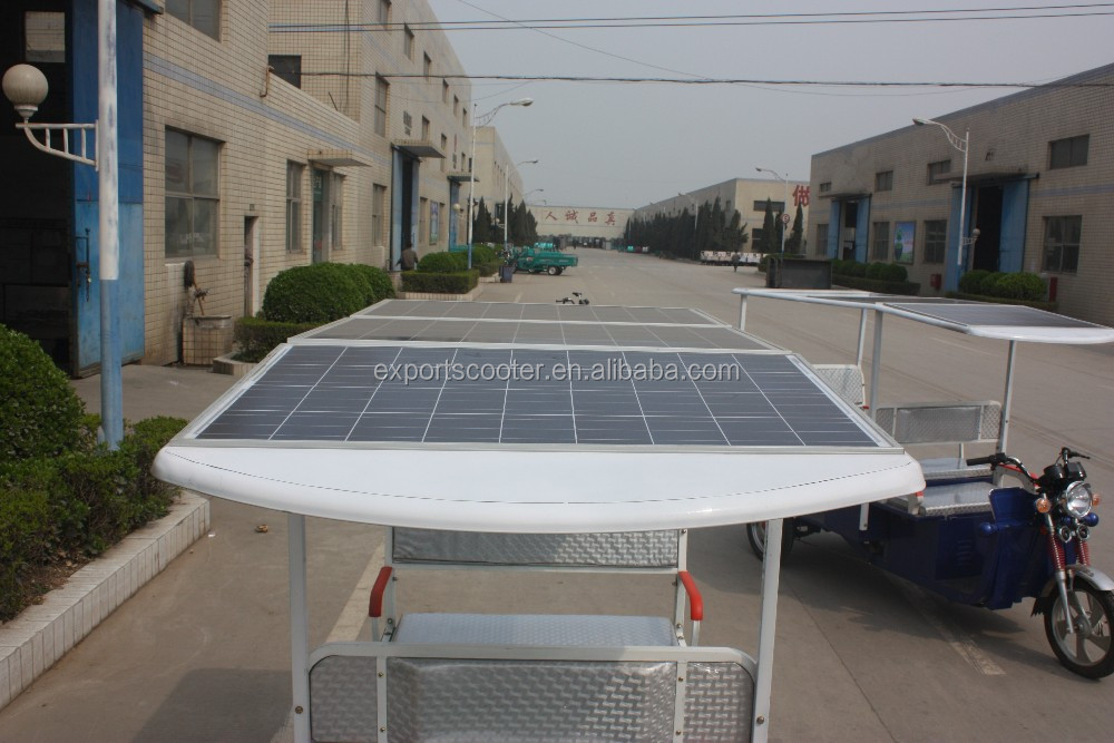 Newest solar panel rickshaw with battery powered taxi passenger rickshaw with 200w or 300w solar panel