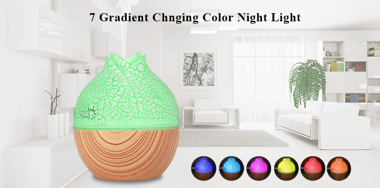 2018 Hot New 130ML USB Aroma Essential Oil Diffuser 7 Colors Light Ultrasonic Cool Mist Humidifier for Yoga Spa Office Home