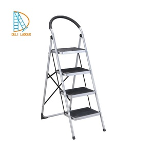 Household Iron Step Ladder with Handrail