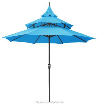 Incroyable Outdoor Umbrella Mesh Pagoda Patio Umbrella