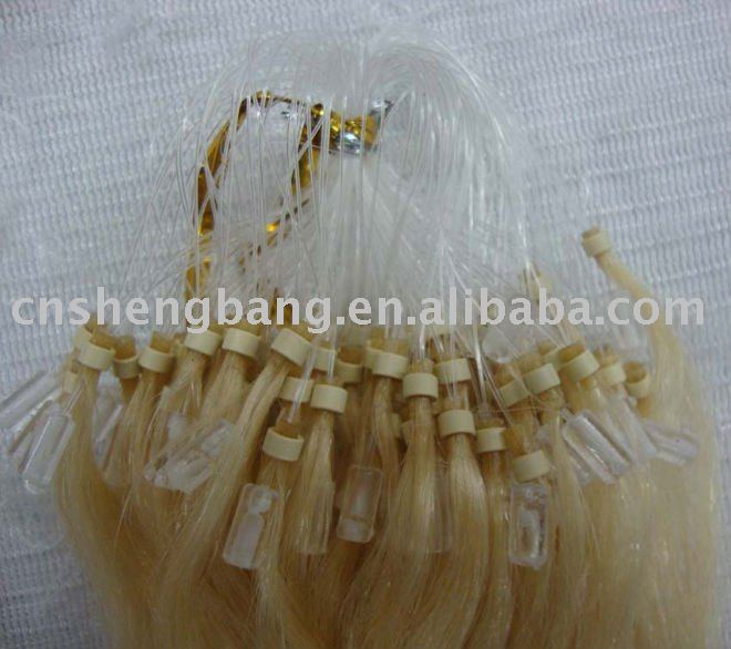 Micro ring Hair extension 22inch 0.5g 613, remy brazilian micro braid hair extensions