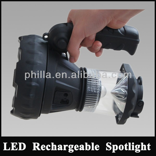 LED bulb light Fishing light attracting fish lead acid lithium battery Rechargeable searchlight handheld spotlight