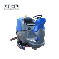 V9 Automatic Ride On Floor Scrubber Dryer Floor Tile Cleaning Machine With Disc Brush